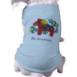 Kundengerechtes Schwede Dala Pferd Hunde Shirt
