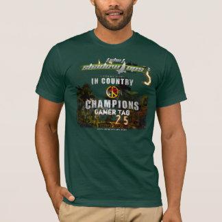 Kundengerechtes SHO im Land-Meisterschafts-Shirt T-Shirt