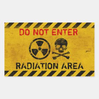Kundengerechtes Strahlungs-Gefahrenzeichen Rechteckiger Aufkleber