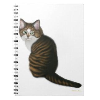 Kundengerechtes Tabby-Miezekatze-Katzen-Notizbuch Notizblock