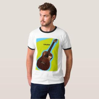 Kundengerechtes Ukulele-Shirt #3: Brown auf T-Shirt