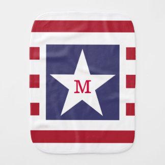 Kundengerechtes US Flagge USA Momogram Baby Spucktuch