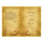 Kundengerechtes Vintages Hochzeits-Programm Custom Flyer