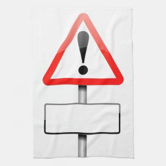 Kundengerechtes Warnzeichen Handtuch