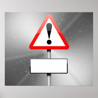 Kundengerechtes Warnzeichen Poster