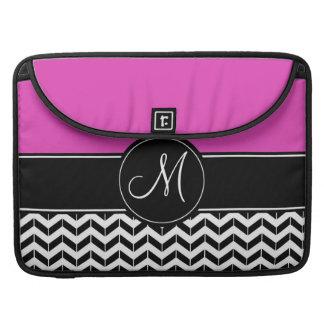 Kundengerechtes Zickzack heißes Rosa Sleeve Für MacBook Pro
