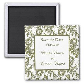 Kundenspezifisch Save the Date Wedding goldenen Quadratischer Magnet
