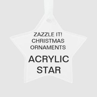 Kundenspezifische Acryl-STERN Ornament