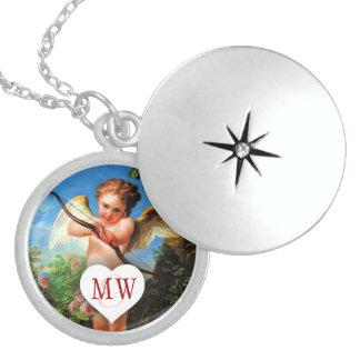 Kundenspezifische Amor-Herz-Initialen Personalisierte Halskette