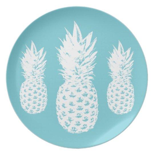 Kundenspezifische Ananasfruchtplatte hergestellt Teller