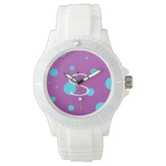 Kundenspezifische AnfangsTupfen-Uhr Armbanduhr
