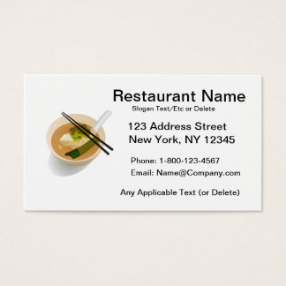 Kundenspezifische asiatische Restaurant-Karte Visitenkarte