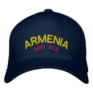 Kundenspezifische Baseballmütze Armeniens Bestickte Baseballkappe
