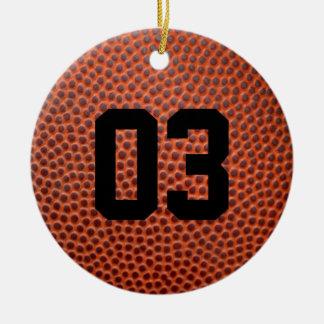 Kundenspezifische Basketball-/Fußball-lederne Keramik Ornament