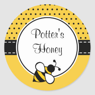 Kundenspezifische Bienen-Aufkleber Runder Aufkleber