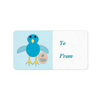 Kundenspezifische blaue adressaufkleber