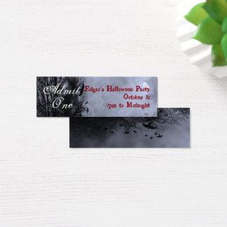 Kundenspezifische blaue Halloween-Himmel-und Mini Visitenkarte