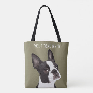 Kundenspezifische Boston-Terrier-Taschen-Tasche Tasche