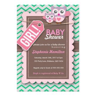 Kundenspezifische bunte Eulen-Babyparty laden ein Individuelle Einladungen