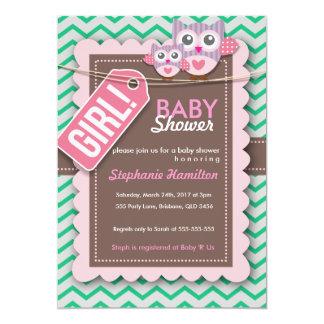 Kundenspezifische bunte Eulen-Babyparty laden ein 12,7 X 17,8 Cm Einladungskarte