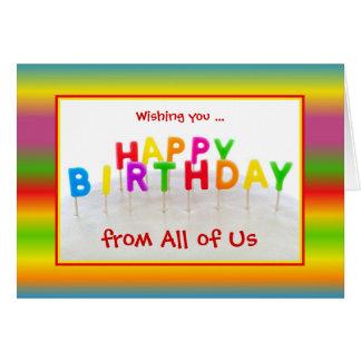 Kundenspezifische bunte Geburtstags-Karte mit Karte