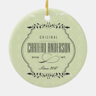 Kundenspezifische Chateau Rosen-sekwein Keramik Ornament