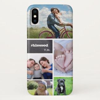 Kundenspezifische Collage 5 Fotos, iPhone X Hülle