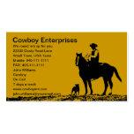 Kundenspezifische Cowboy-Visitenkarten - fertigen Visitenkarten