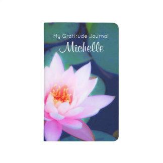 Kundenspezifische Dankbarkeit mit rosa Taschennotizbuch