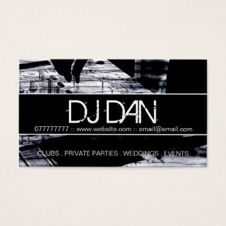 Kundenspezifische DJ-Visitenkarten Visitenkarte