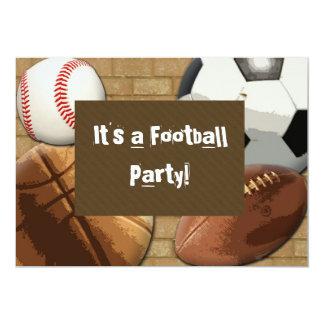 Kundenspezifische Einladung, Sport Party, 12,7 X 17,8 Cm Einladungskarte