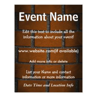 Kundenspezifische Ereignis-Backsteinmauer 21,6 X 27,9 Cm Flyer