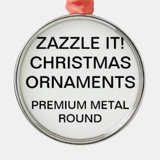 Kundenspezifische erstklassige runde silbernes ornament