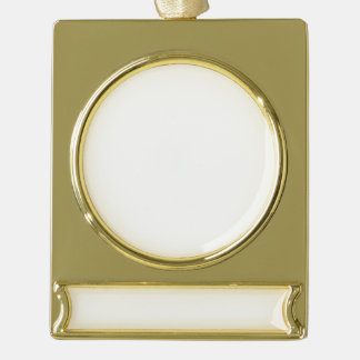 Kundenspezifische Fahnen-Verzierung - Gold Banner-Ornament Gold