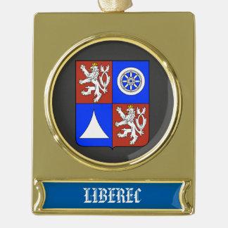 Kundenspezifische Fahnen-Verzierung Liberecs Banner-Ornament Gold