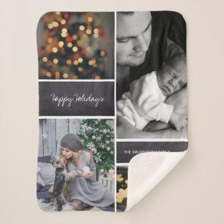 Kundenspezifische Familien-Foto-Sammlungscollage Sherpadecke