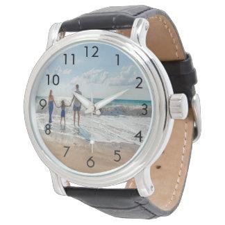 Kundenspezifische Familien-Fotouhr Armbanduhr