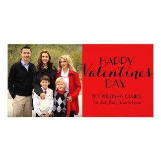 Kundenspezifische Familien-Fotovalentine-Karte Karte