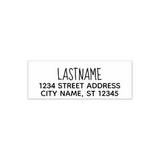 Kundenspezifische Familienname-Rücksendeadresse - Permastempel