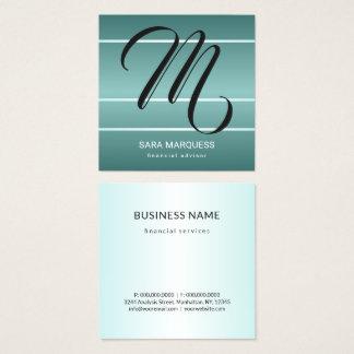 Kundenspezifische Farbaquamarines blaues Quadratische Visitenkarte