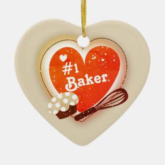 Kundenspezifische Farbe#1 Keramik Herz-Ornament