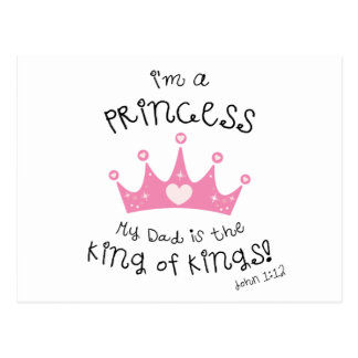 Kundenspezifische Farbe bin ich eine Prinzessin Postkarte