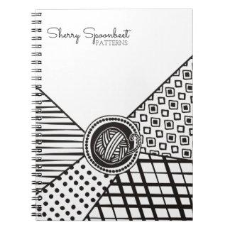 Kundenspezifische Farbe gemischte strickende Spiral Notizblock