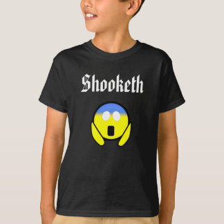 Kundenspezifische Farbelustiges Shooketh OMG Emoji T-Shirt