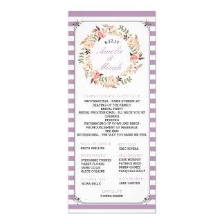 Kundenspezifische Farbgestreifte Hochzeits-mit Karte