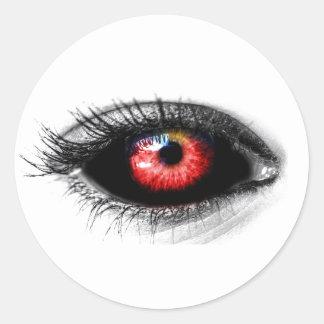 Kundenspezifische Farbgruseliger roter Runder Aufkleber