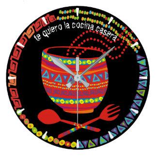 Kundenspezifische Farbmexikanische aztekische Große Wanduhr