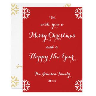 Kundenspezifische Feiertags-frohe Weihnacht-guten Karte