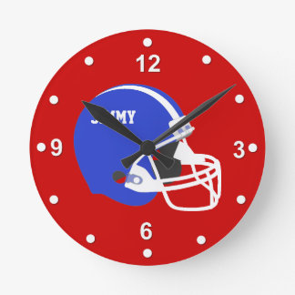 Kundenspezifische Football-Helm-Wanduhr Uhren