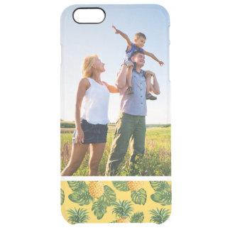 Kundenspezifische Foto-Ananas u. tropisches Durchsichtige iPhone 6 Plus Hülle
